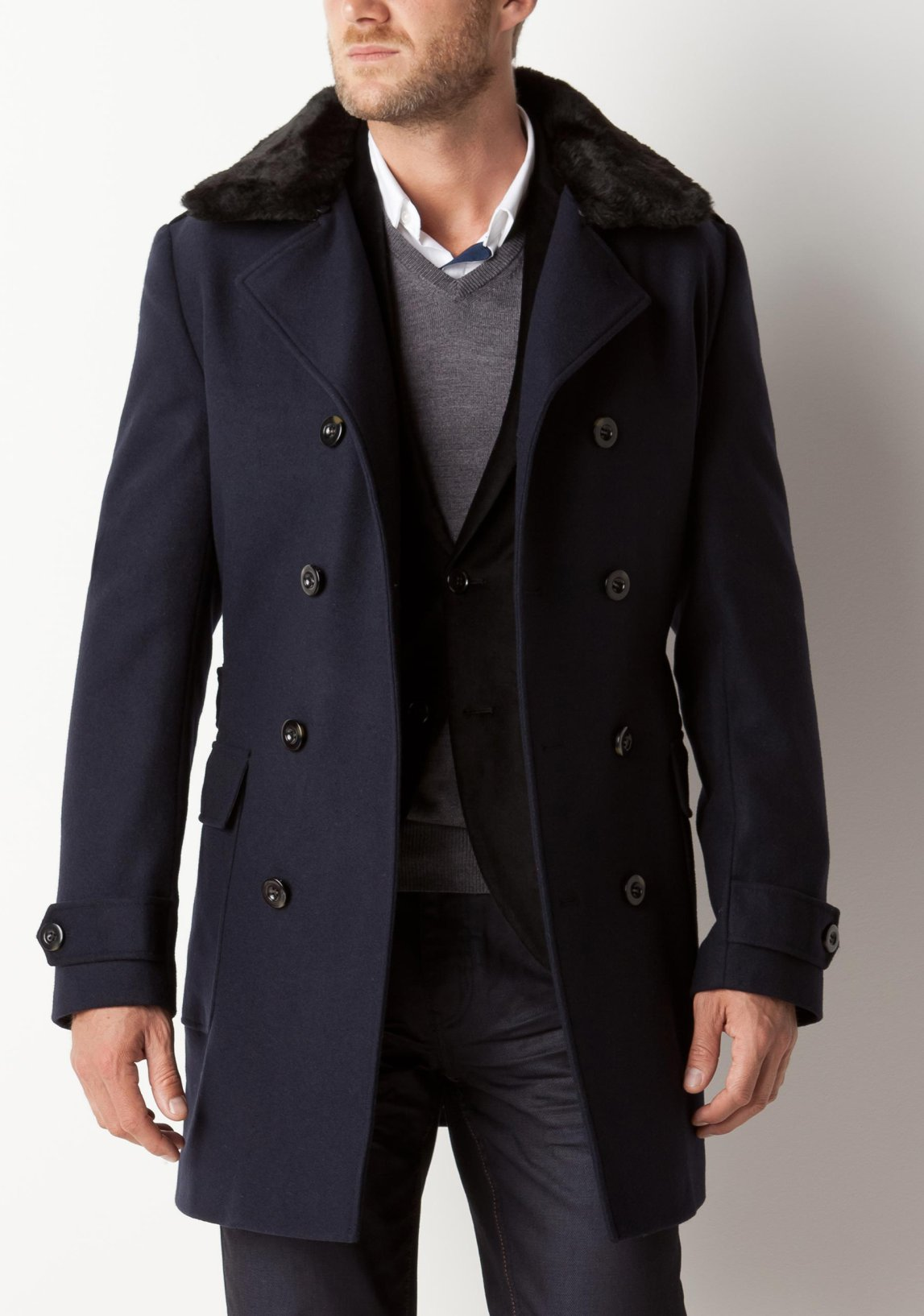 Homme De NoirUn Garde Must La Have Long Manteau Robe wTOPXZukil